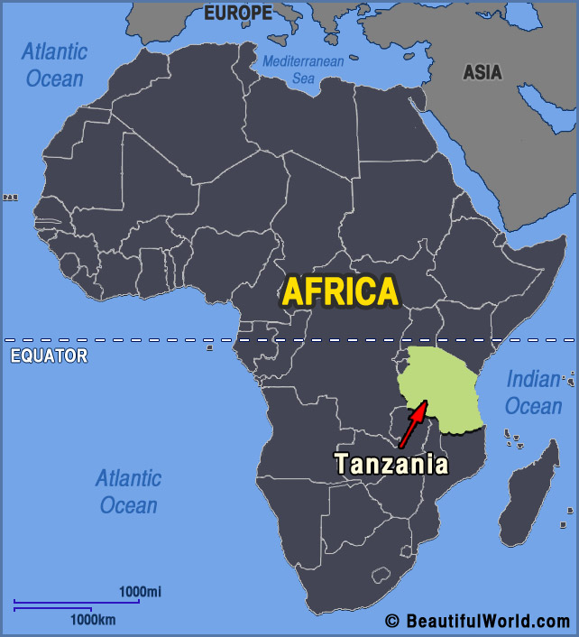 Map Of Africa Equator.Map Of Tanzania Facts Information Beautiful World Travel Guide