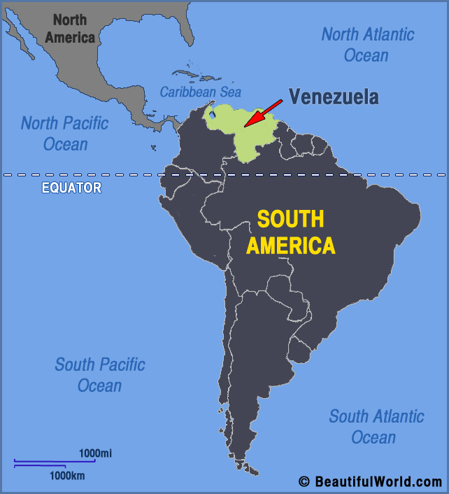 Map Of Venezuela Facts Information Beautiful World Travel Guide: North America Map Equator At Codeve.org