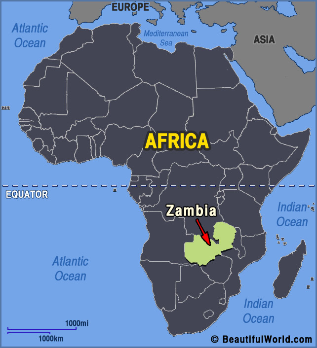 Map of Zambia - Facts & Information - Beautiful World Travel Guide