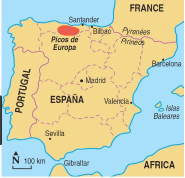 Mountains Of Spain Map.Picos De Europa National Park Facts Information Beautiful World