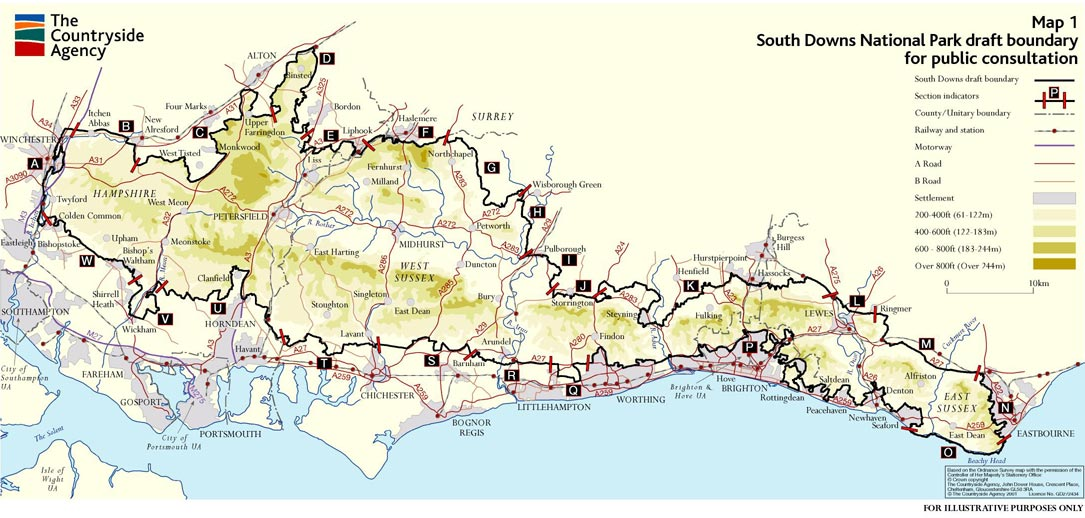 Map of The South Downs Way