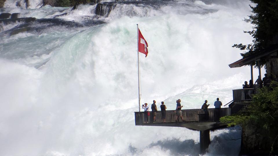 Rhine Falls viewing platform