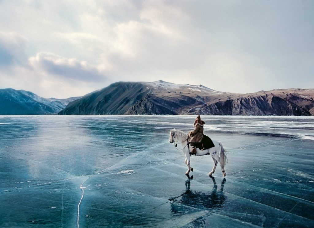 For a period of 85 days, it is safe to drive over the frozen lake surface.