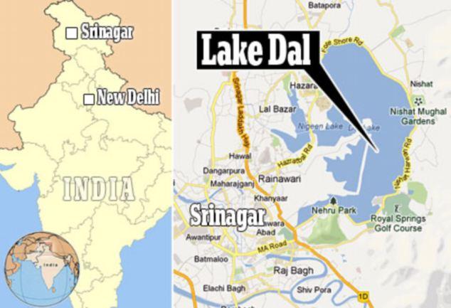 Map of Dal Lake
