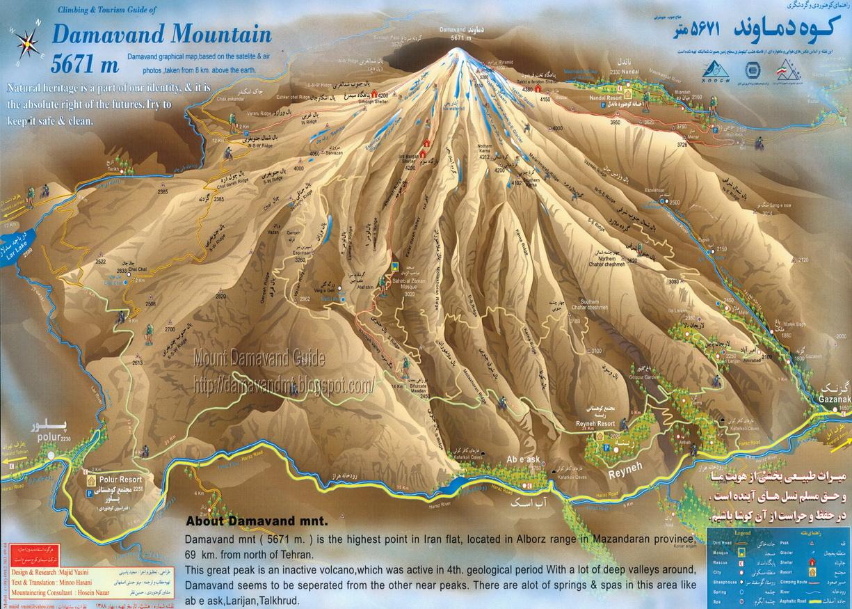 Mount Damavand Routes