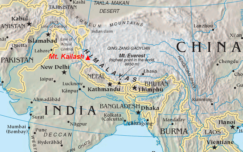 Mt Kailash map