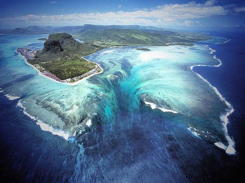 The Underwater Waterfall of Mauritius