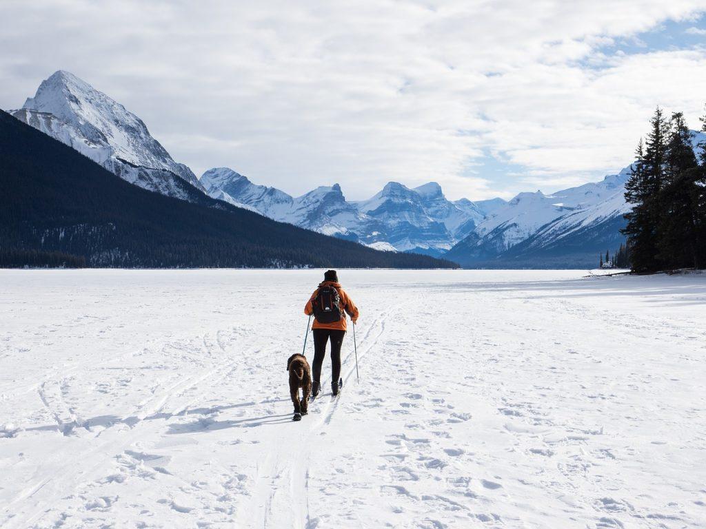 Maligne Lake During Winter