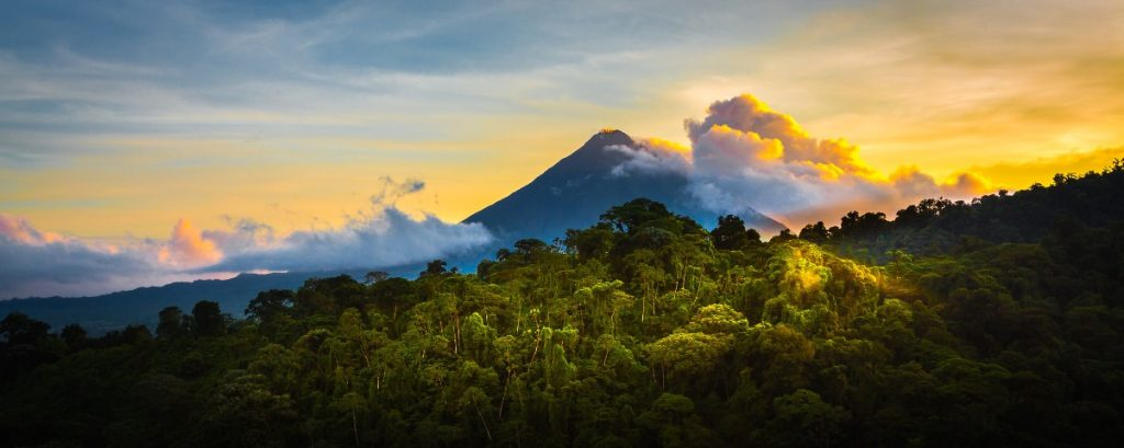 Arenal Volcano in the Mist