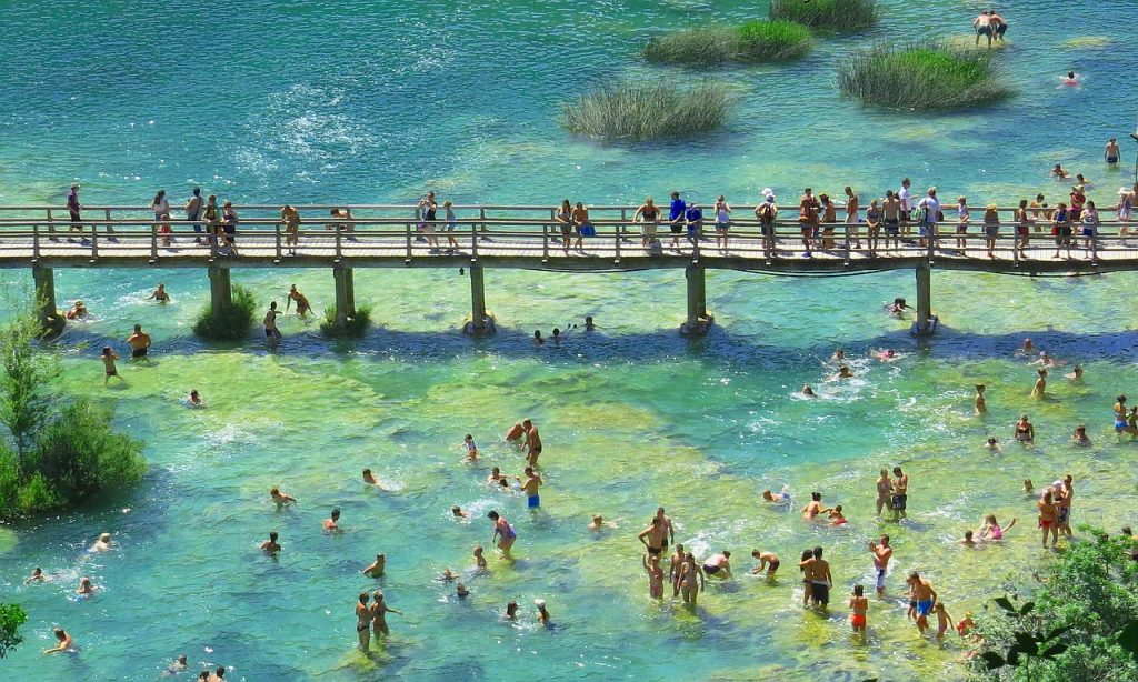 Bathing at Krka National Park