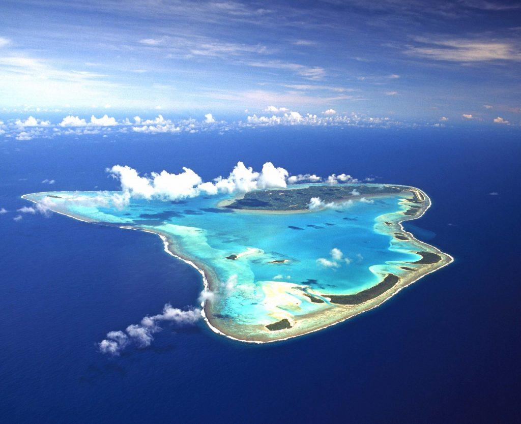 Aitutaki: Aireal photograph
