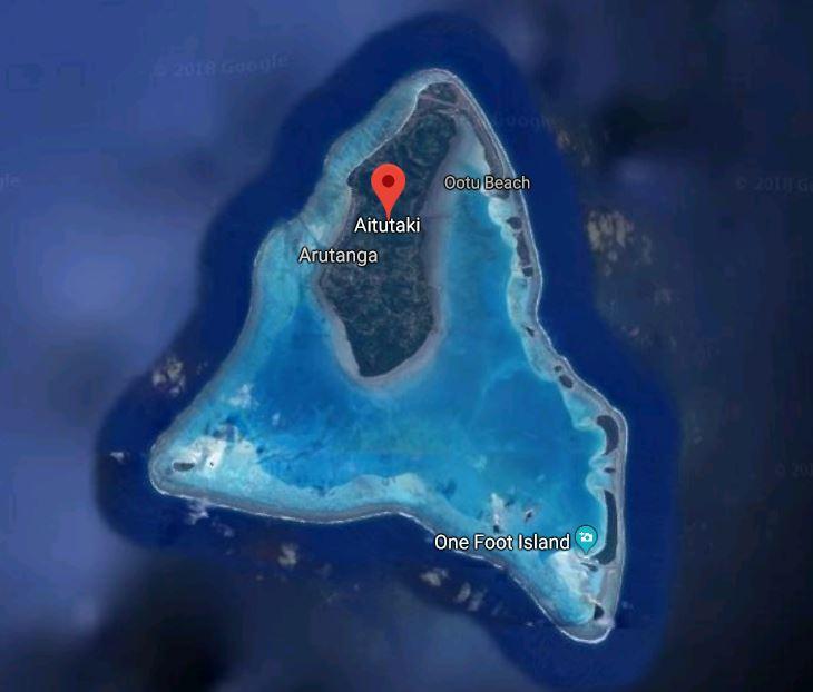 Aerial Map of Aitutaki
